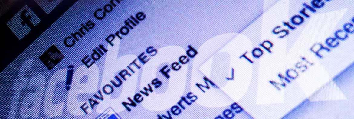 Facebook newsfeed story header image