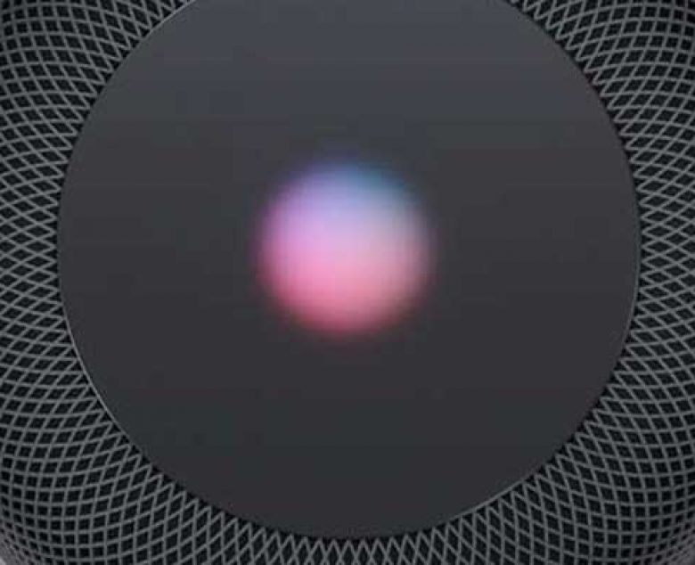 Close up of Apple's Homepod device