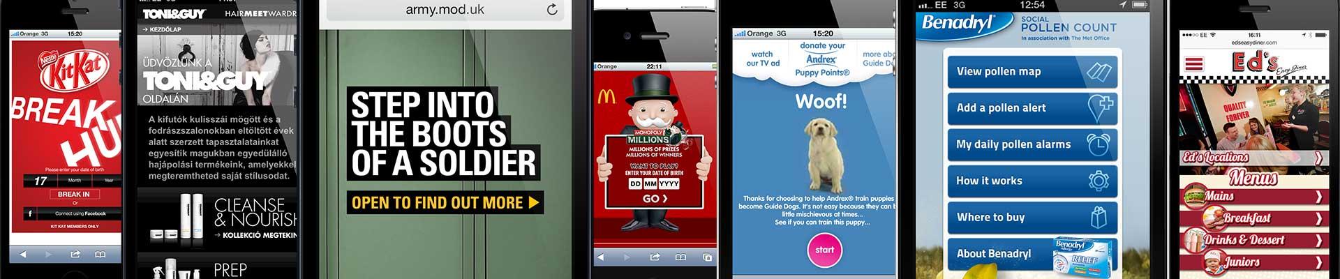 Mobile application designs