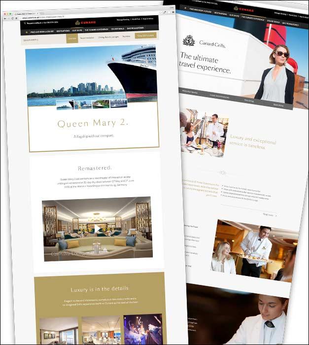 Cunard page layouts