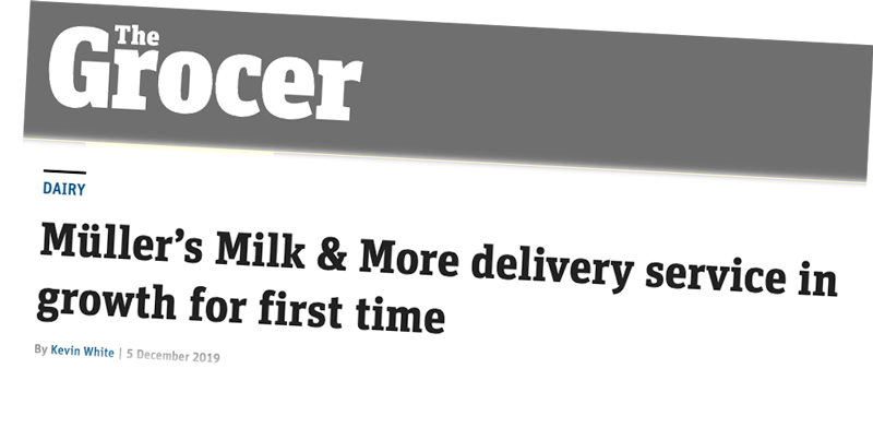News clipping about milk&more growth