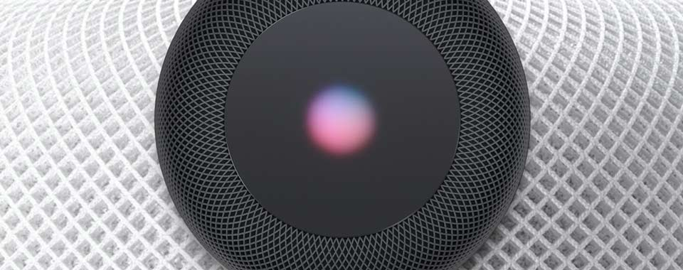 Cloise up of Apple's Homepod device