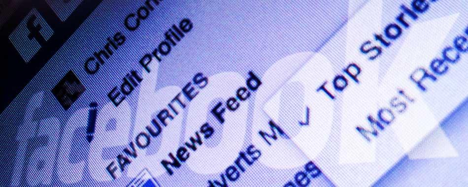 Facebook newsfeed story header image