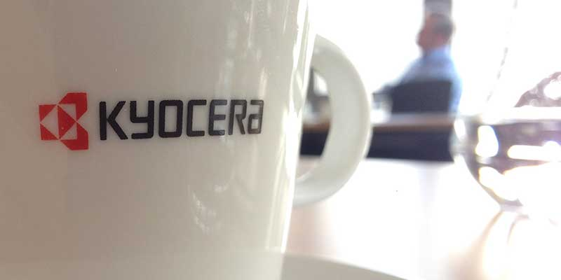 kyocera cup in a meeting room