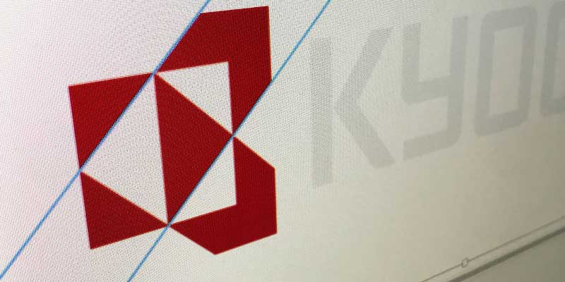 close up of a logo illustration on screen